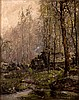 Signed Oil Painting,  Wooded Scene