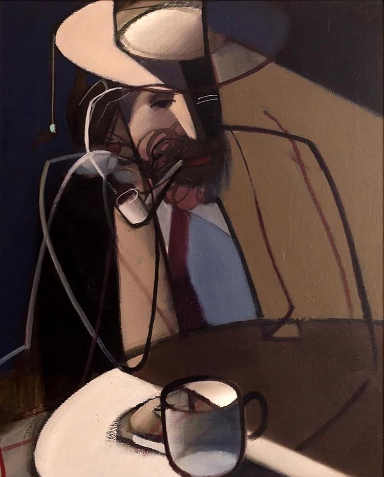 Ivan Kustura (b.1951) Oil Painting, Coffee Break