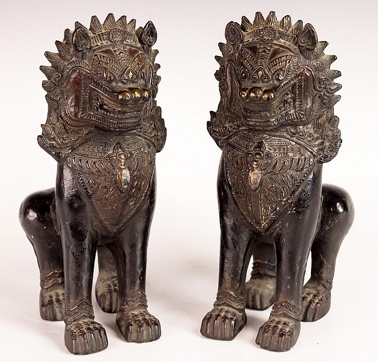 Pair Of Chinese Foo Foo Dogs