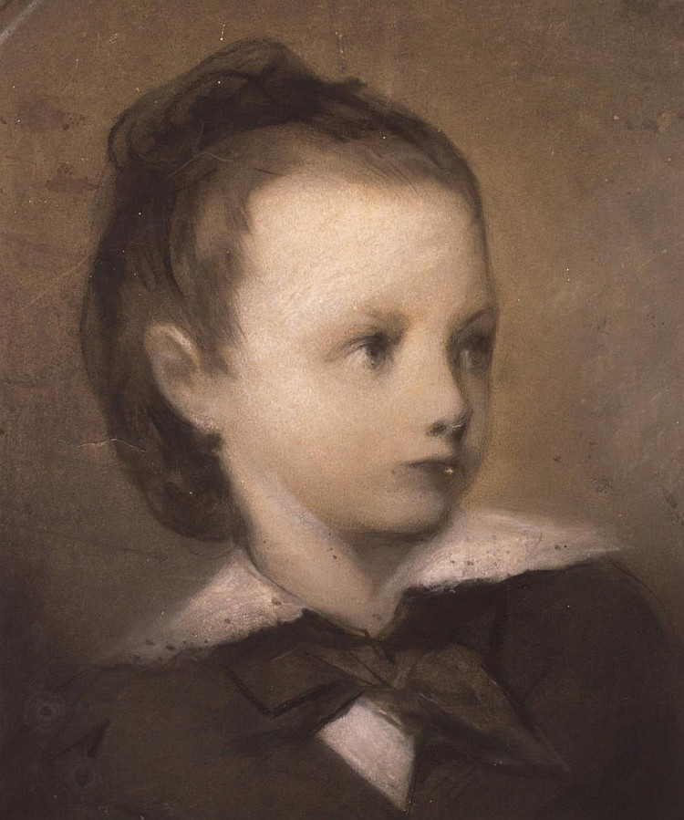 Charcoal Portrait, Young Girl
