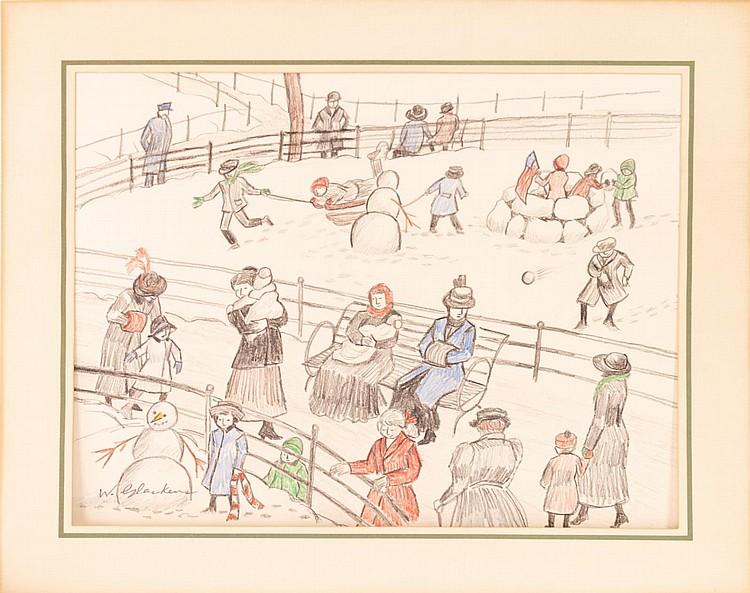 William James Glackens Pencil Art