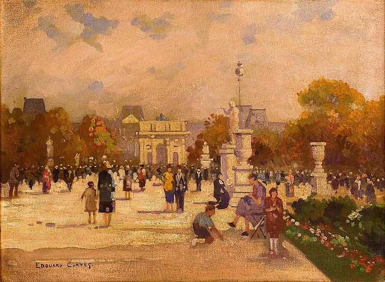Edouard Leon Cortes (1882 - 1969) Street Scene