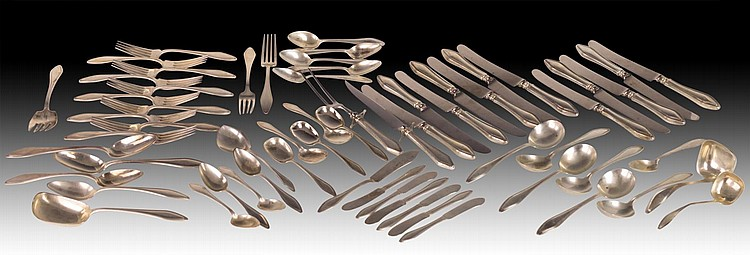 59Pc Towle Sterling Silver Flatware, Mary Chilton