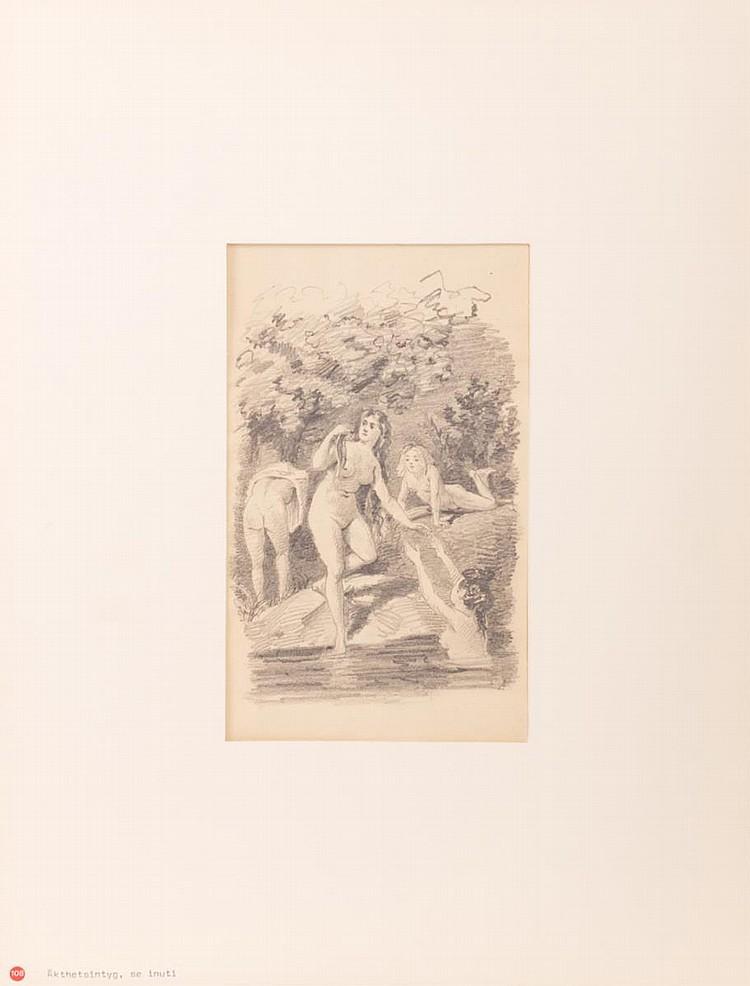 Edvard August Forsstrom (1854-1934) Drawing
