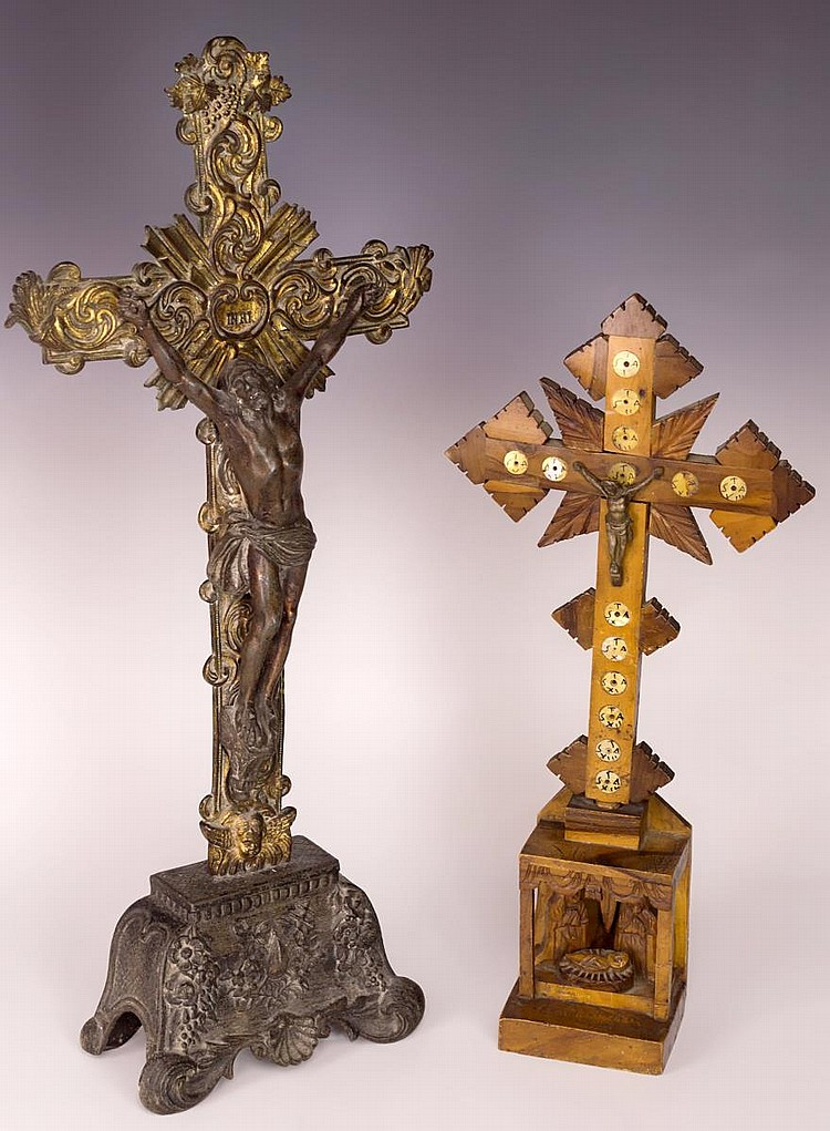 Lot of 2 Crucifixion Sculptures