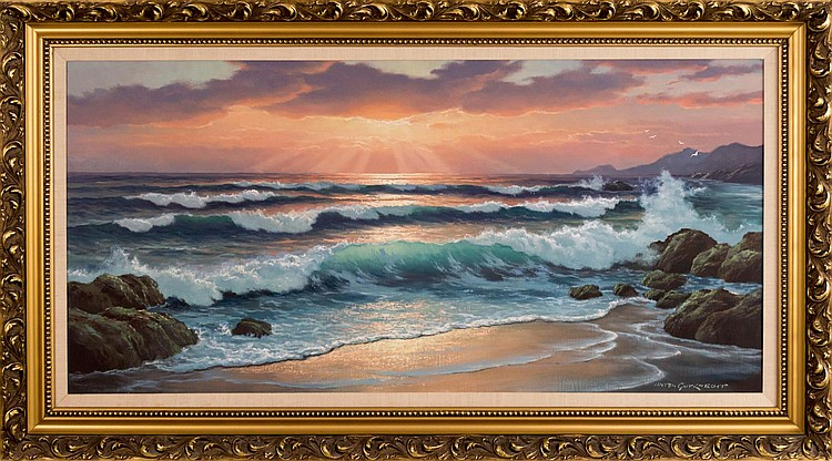 Anton Gutknecht (1907-1988) Seascape Oil Painting