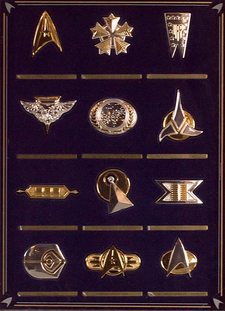 Sterling Silver Star Trek Insignia Collection