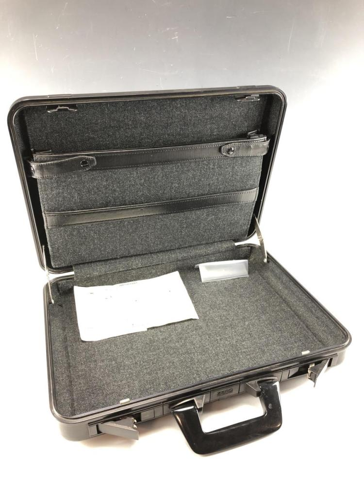 Zero Halliburton Black Metal Briefcase