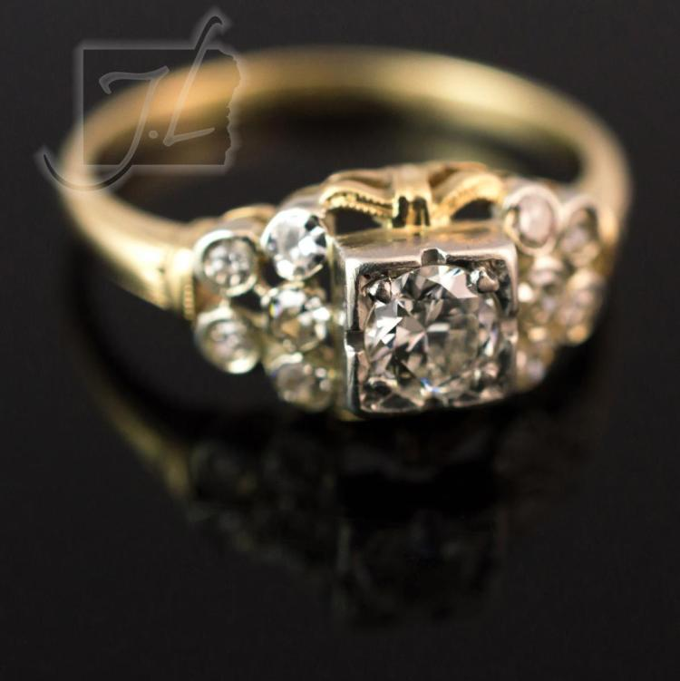 14K/18K Two-Tone Gold Diamond Ring