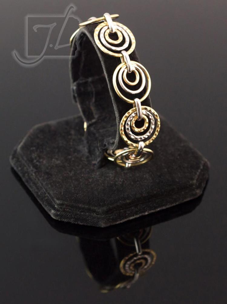 14K Tri-Tone Gold Bracelet