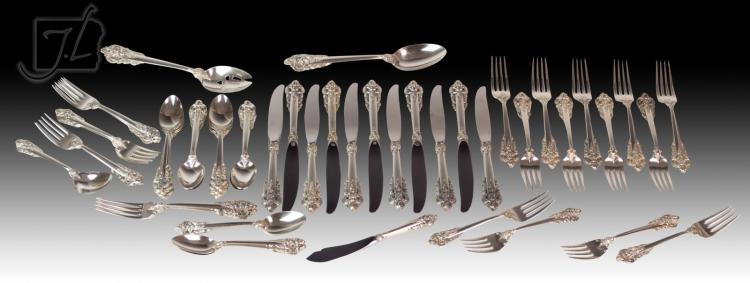 58 Pc. Wallace Grand Baroque Sterling Silver Set
