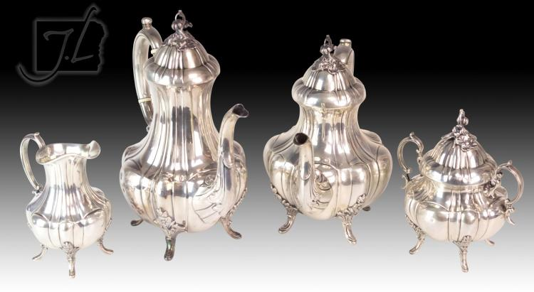 4Pc Reed & Barton Bradford Sterling Silver Tea Set