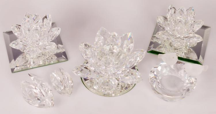 9Pc. Swarovski Crystal & Mirror Lot