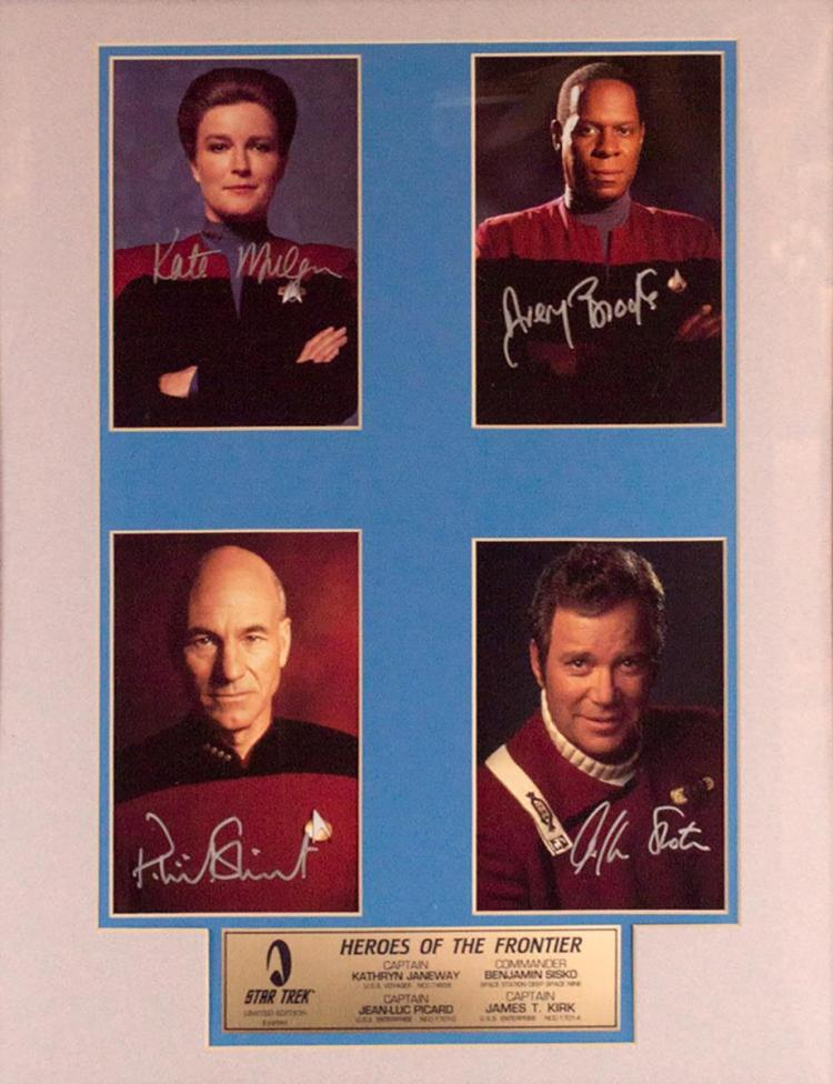Signed Star Trek Heroes Of The Frontier, Ltd. Ed.