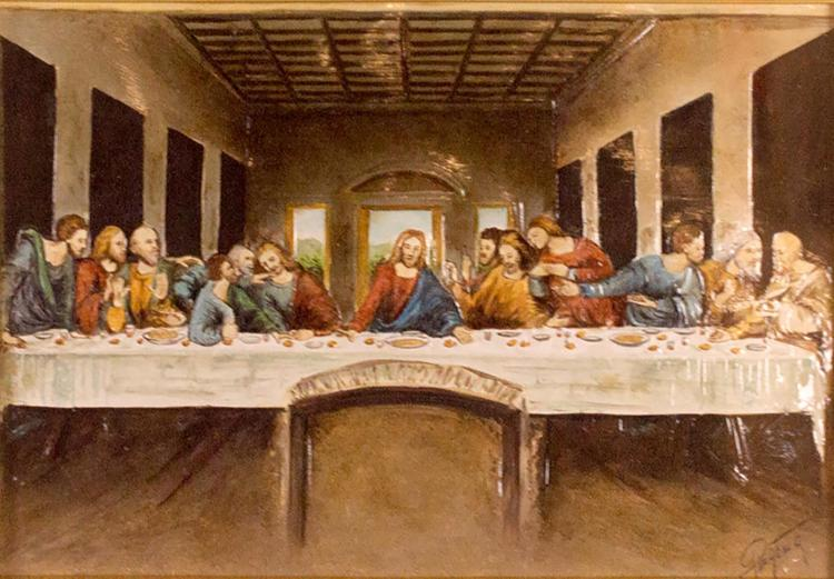 Da Vinci Last Supper Religious Painting on wood