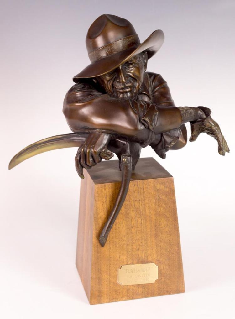 George Lundeen Bronze Sculpture