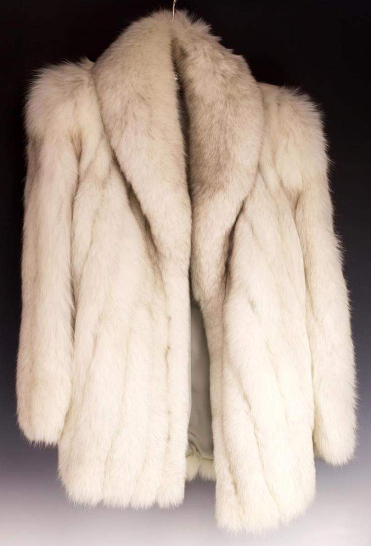 White Fox Coat by D'ion Furs