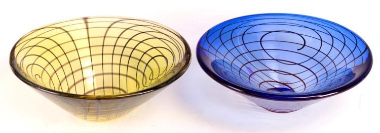 2Pcs. Oggetti Decorative Glass Bowls