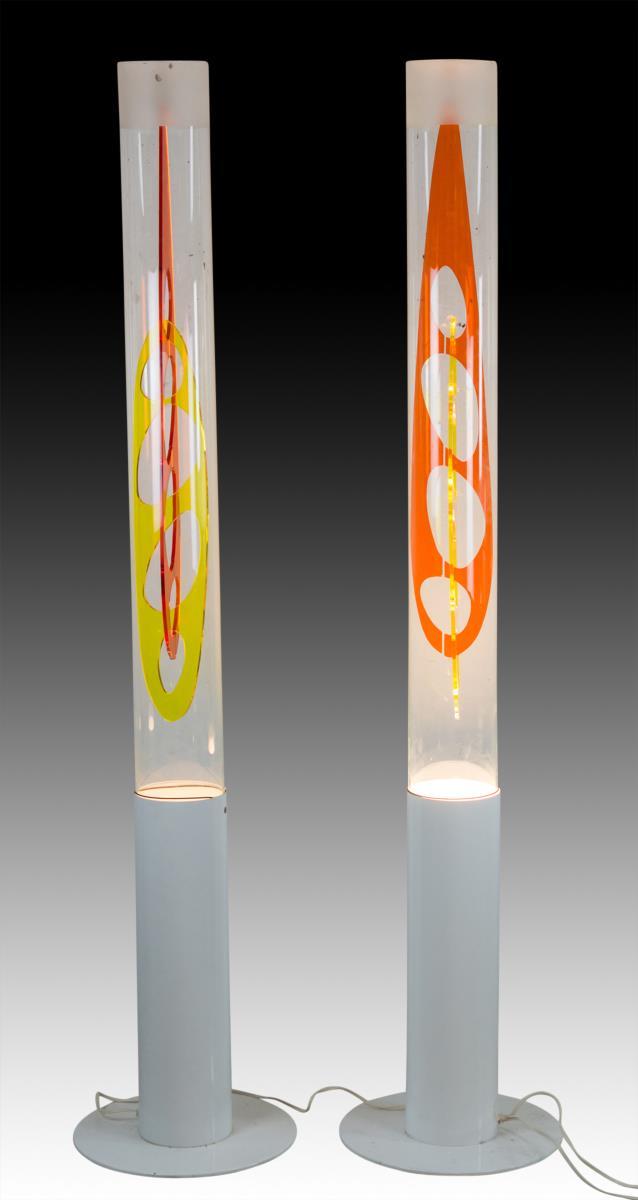 2Pc. Designer Art Deco Floor Lamps