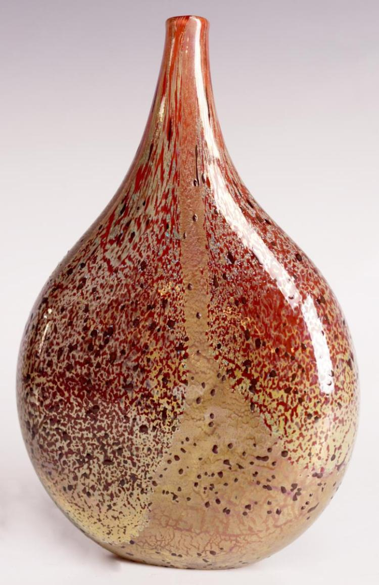 Designer Art Glass Vase, Signed
