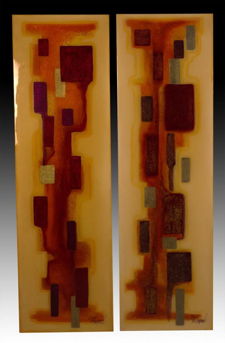 2Pc. D. Calderon Abstract Wall Art