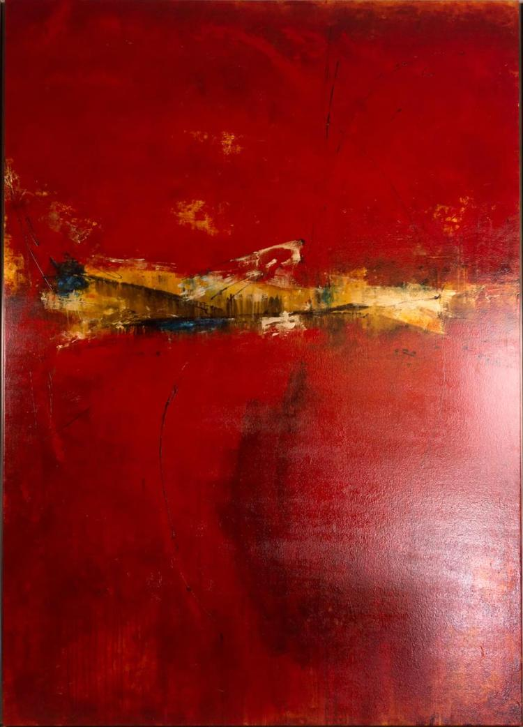 Signed Abstract Oil Painting