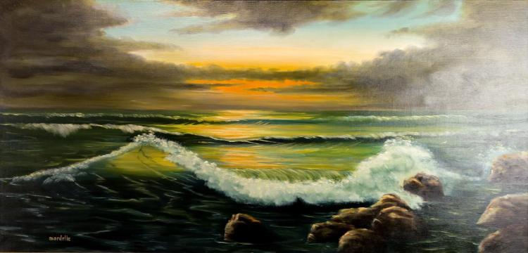 Mardelle Driscoll (1939-2014) Ocean Scene