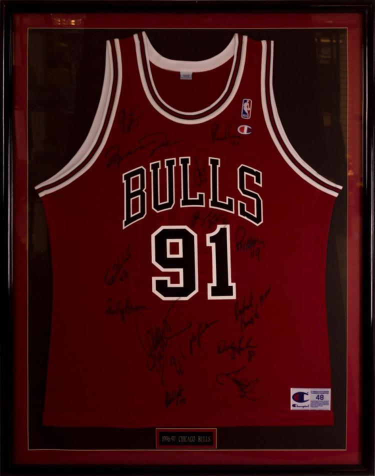 Chicago Bulls Dennis Rodman Jersey, Autographed