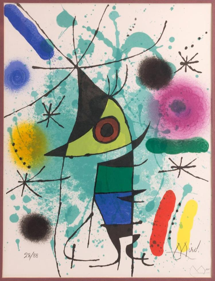 Joan Miro (1893-1983) Ltd Ed Lithograph