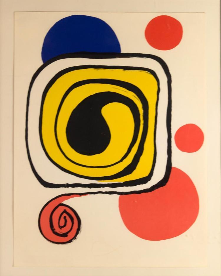 Alexander Calder Ltd Ed Lithograph