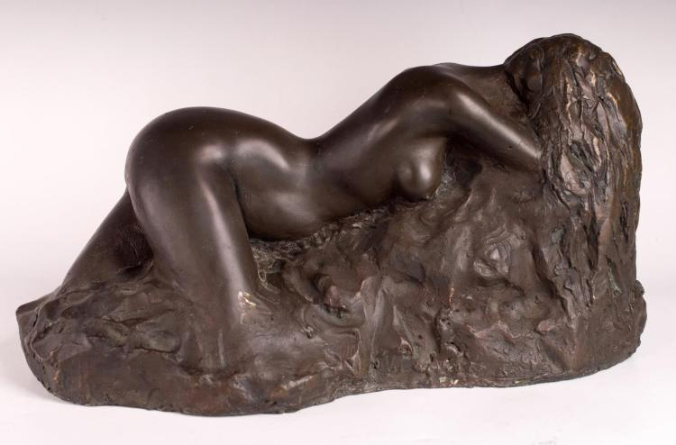 Signed Bronze, Nude Sculpture