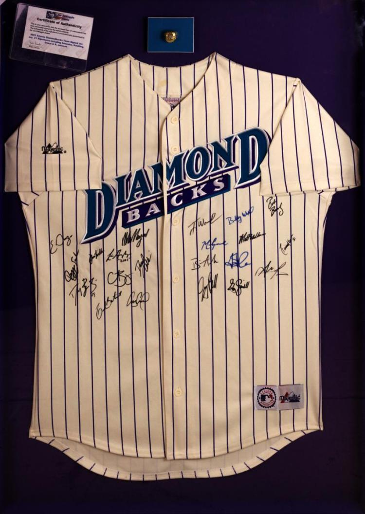 2001 AZ Diamondback World Series Signed Jersey