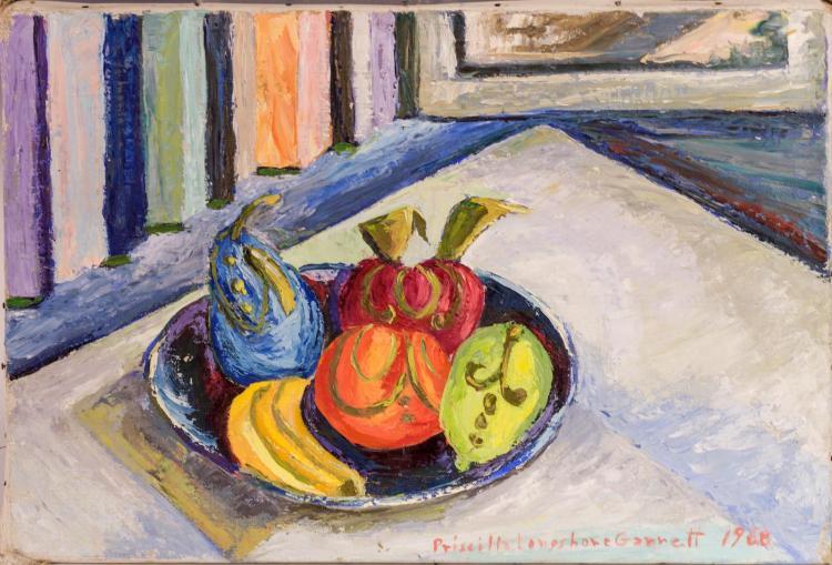 Priscilla Garrett (1907-1992) Oil Painting, Fruit