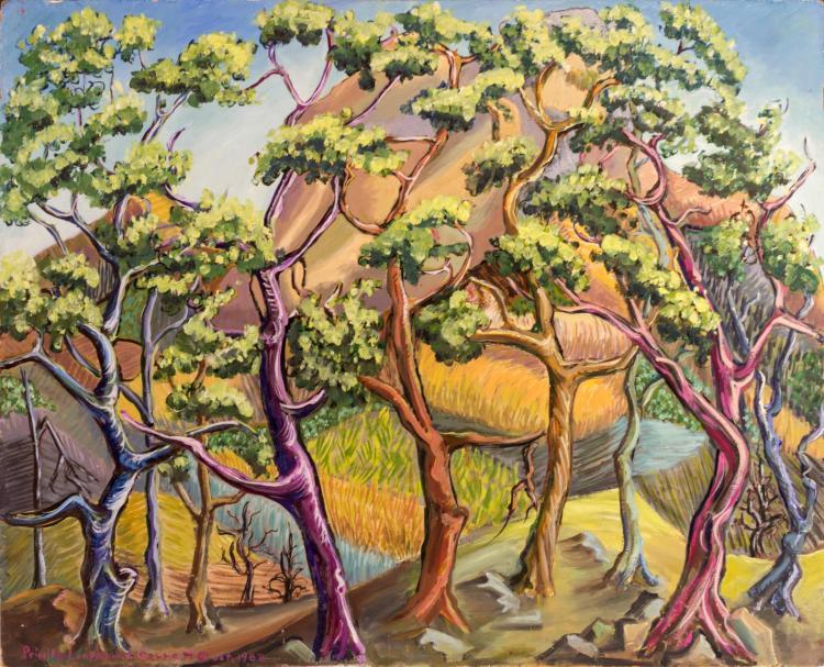 Priscilla Garrett (1907-1992) Oil Painting,