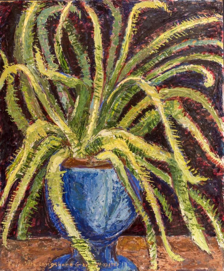 Priscilla Garrett (1907-1992) Oil Painting, Plants