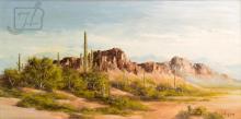 John Loo (20th C.) Desert Landscape