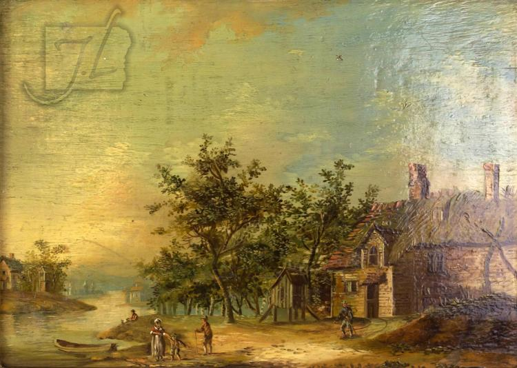 Christian Georg II Schutz (1758-1823) Oil Painting