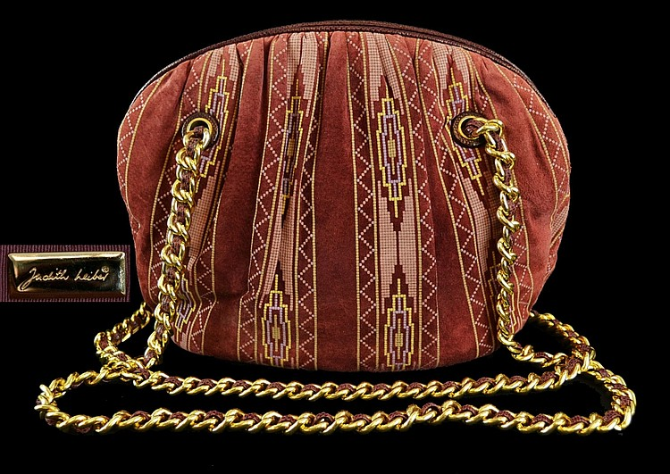Judith Leiber Hand Bag with Mirror & Comb Set.