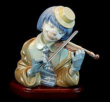 Lladro Porcelain #5600 - The Blues (B)