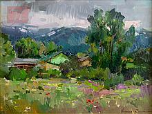 "Ovanes Berberian (1951-) ""June In Victor, Idaho"""