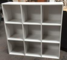 White Cubical Storage Unit