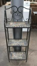 Tiled Wrought Iron Shelf