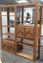 10 Shelf Bookcase w/ Cabinets