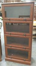 4 Shelf Glass Paneled Bookcase