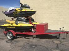 3 Seadoo Bombardier XP Limited w/ Trailer