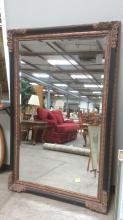 Large Ornate Framed Beveled Mirror