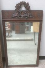 Atq. Ornate Wood Framed Mirror