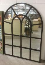 Metal Window Style Frame Panel Mirror
