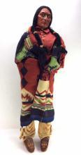 20th C. Store Display Native American Skookum Doll
