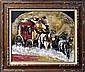 Oil Painting on Canvas, Stagecoach